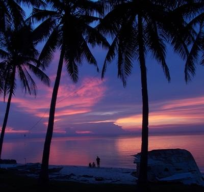 A beautiful sunset in the Philippines