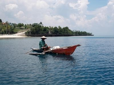 A local fisherman on the island