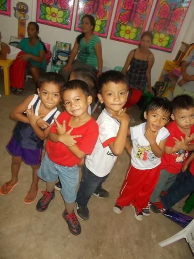 Local children at the day care centre