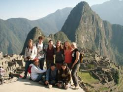 Volunteer group at Machu Picchu