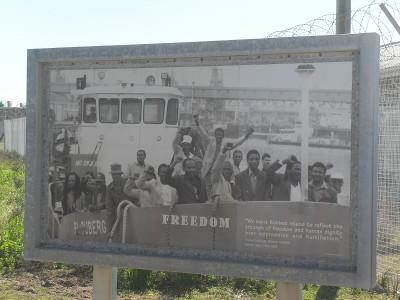 Sign on Robben Island
