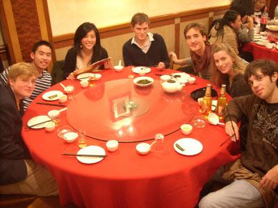 Dinner with other volunteers