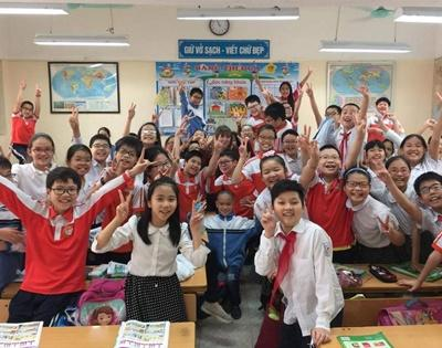 Children at school in Vietnam