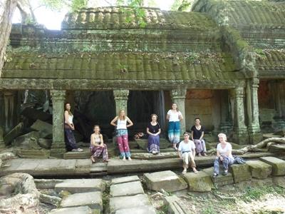 Team at Ta Prohm