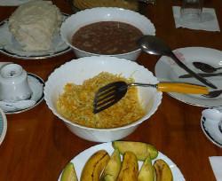 Volunteer meal in Tanzania