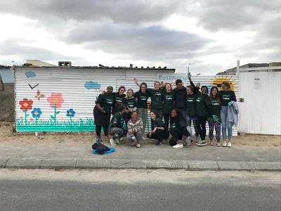 Volunteers during a community day in South Africa