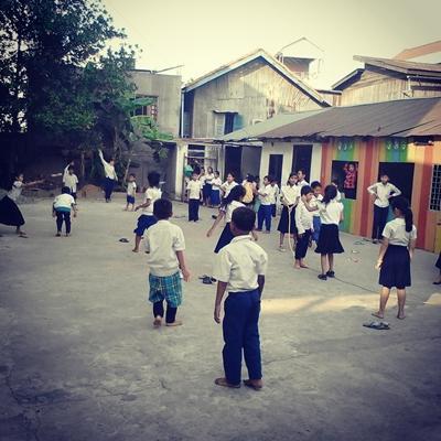 The playground at VDTO Bamboo Shoot School