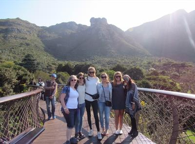 Volunteers visiting Kirstenbosch Botanical Garden