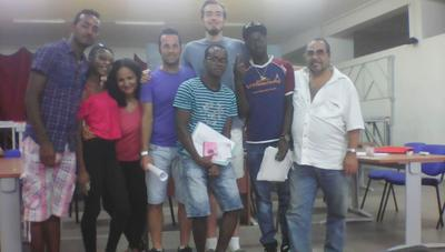 Refugee Project volunteers and staff in Italy