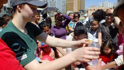 An outreach in Mongolia