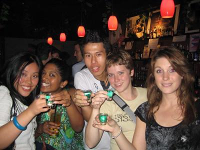 Night out with other volunteers