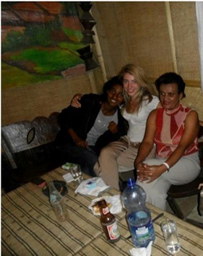 Me with my host family, Chuna and Linda