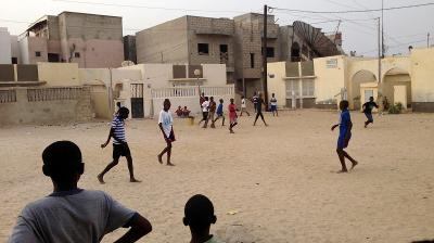 Playing Football in Senegal