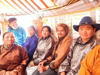 Jack and his nomad host family in Mongolia