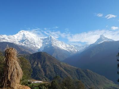 The Himalayan mountains in Nepal
