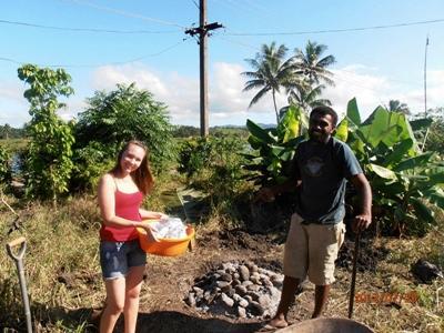 Cooking in Fiji