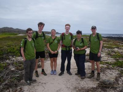 Volunteers during their conservation project on the Galapagos Islands