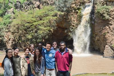 Waterfall exploring in Kenya