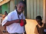 Emmanuel visiting schools