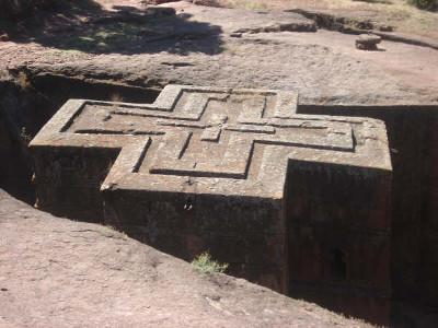 Rock church at Lalibela