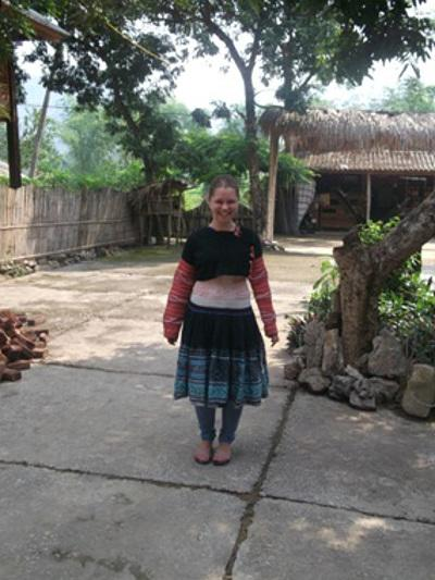 In traditional dress