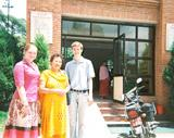 Outside the hospital in Nepal