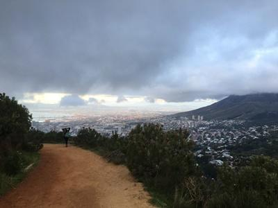 Beautiful view while hiking in Cape Town