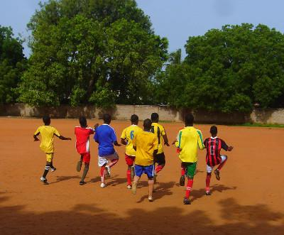 Training on sandy pitch