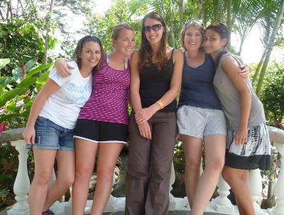 With my volunteer friends