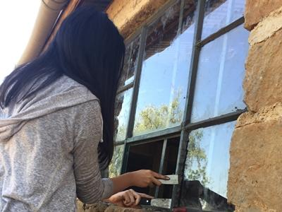 Repairing window panes at a Care placement