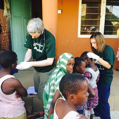 Health screening at a community outreach in Tanzania