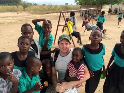 With the children in Ghana