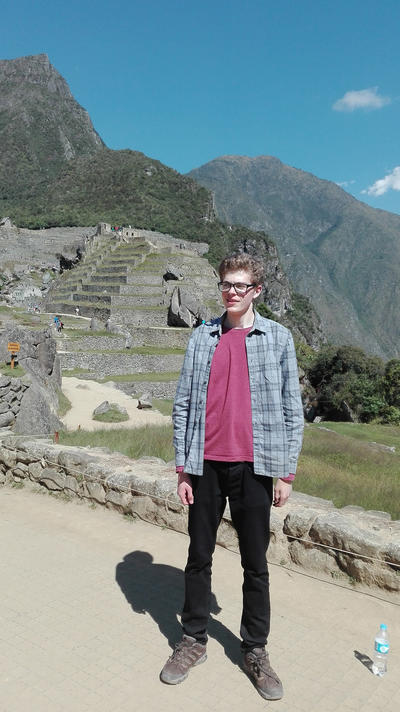Joseph visiting Machu Picchu during his free time