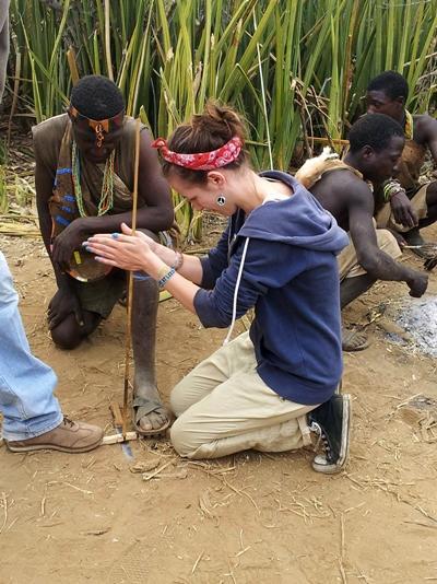 Volunteer working in Tanzania