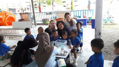 Care volunteers and teacher in Thailand
