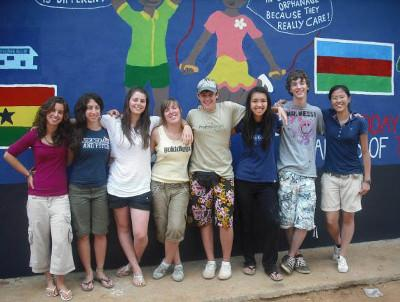Group with our murals
