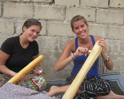 Preparing baguettes