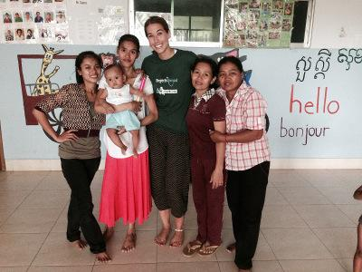 With staff at the Care Project