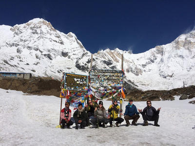 Volunteers at Annapurna Base Camp