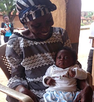 Local mother and baby in Ghana