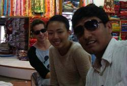 Visiting fabric shop