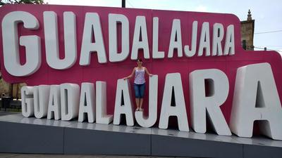 Kate sightseeing in Guadalajara