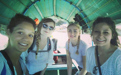 Volunteers during a weekend trip to Zanzibar