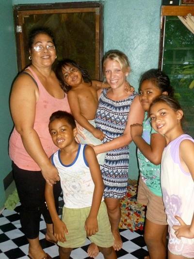 Host family in Samoa