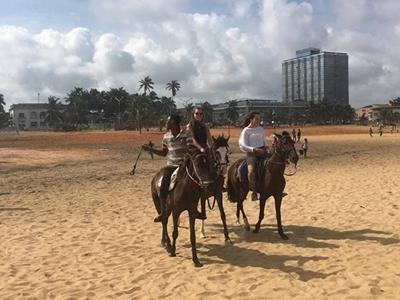 Horseback riding on Lome beach