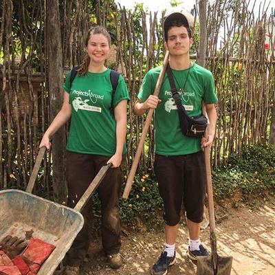 Conservation volunteers on their way to reforestation work