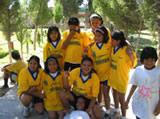 Team Maria Cristina after their first football victory
