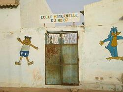 Outside my placement in Senegal
