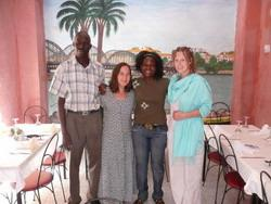 With my wonderful host family