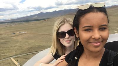 Volunteers sightseeing during their free time in Mongolia